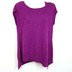 Eileen Fisher Women Blouse Short Sleeve Linen EUC